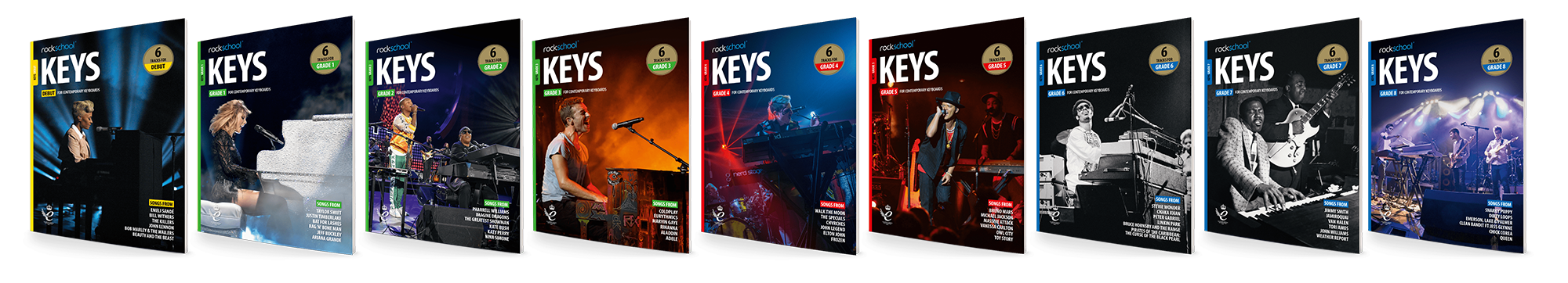 Rockschool Keys Book Covers