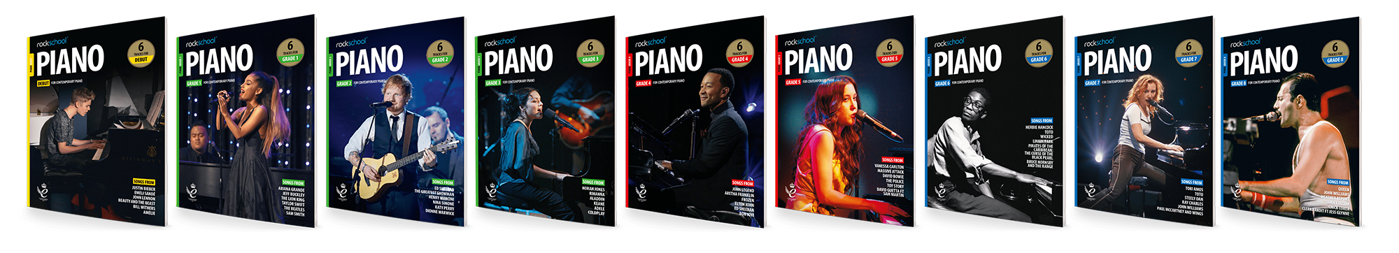 Rockschool Piano Book Covers